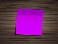 Vector modern square sticky note - stock illustration