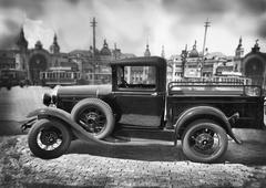 Ancient truck Stock Photos