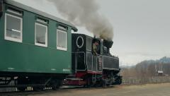 Steam narrow gauge train 5 Stock Footage