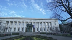 Historical building of the National Library of Bulgaria-timelapse Stock Footage