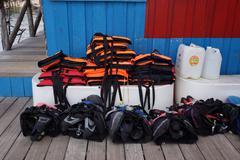 Scuba Diving Equipment Kuvituskuvat