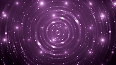 Abstract Violet background with animated circles and stars. - stock footage