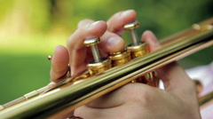 Trombone closeup Stock Footage