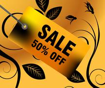 Sales and discount concept Stock Illustration