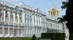 Katherine's Palace hall in Tsarskoe Selo (Pushkin), Russia Stock Footage