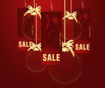 Sales and discount concept - stock illustration
