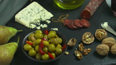 Tapas zoom out. food Stock Footage