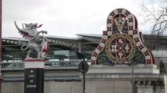 Traffic on Blackfriars Bridge London (B-Roll/Cutaway/GV) | HD 1080 Stock Footage