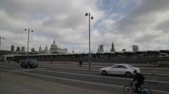 Stock Video Footage of Traffic on Blackfriars Bridge London (B-Roll/Cutaway/GV) | HD 1080