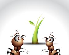 Ant Character Stock Illustration