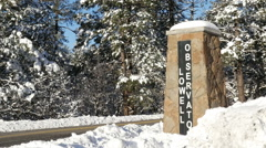 4K Lowell Observatory Entrance Stock Footage