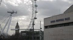 The London Eye & Royal Festival Hall (B-Roll/Cutaway/GV)   HD 1080 Stock Footage