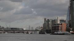 Stock Video Footage of Southbank & Blackfriars Bridge London (B-Roll/Cutaway/GV) | HD 1080