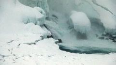 Niagara Falls Frozen Over,  Historic 2015 Winter, View 28 Stock Footage