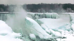 Niagara Falls Frozen Over,  Historic 2015 Winter , View 26 Stock Footage