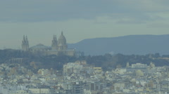 Barcelona View Palace long lens Stock Footage