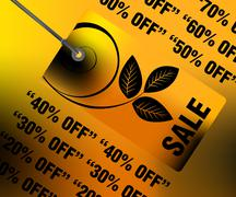Sales and discount concept Illustration Stock Illustration