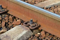 Rail and sleepers - stock photo