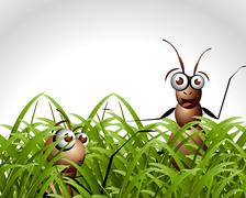 Antic Ant Character - stock illustration