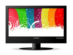 widescreen lcd monitor - stock illustration