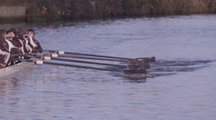 Rowing Oar Blades in Slow Motion - stock footage