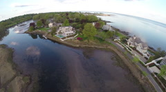 Luxury beachfront aerials, New England beauty shots Stock Footage