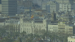 Barcelona View City Hall long lens - stock footage