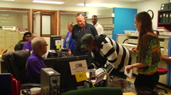 Louisiana citizens cast early ballots for 2014 Midterm Elections Stock Footage