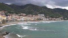 Sicilian winter beach Stock Footage