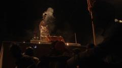 Ganges puja service in Varanasi, India Stock Footage