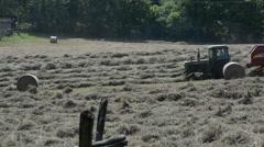 Harvesting hay at School House Ridge Stock Footage