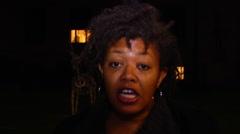 Black Friday Ferguson boycott sound bite Stock Footage