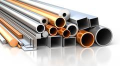 Stock Illustration of Set of metallic construction materials.