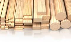 Closeup wooden boards. Illustration about construction materials - stock illustration