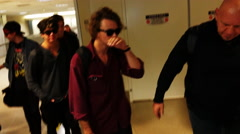 5 Seconds of Summer at LAX, shot in 4K UHD Stock Footage