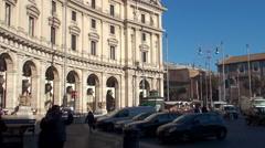 Types of Rome. Piazza della Repubblica. Stock Footage