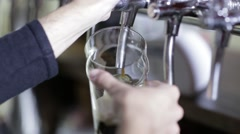 Man taking beer from beer cooler - stock footage