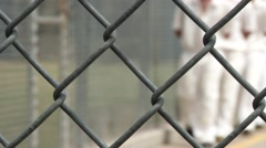 Prison Inmates Walking Rack Focus Stock Footage