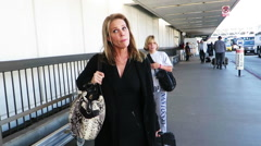 Cheryl Hines at LAX Stock Footage