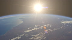 Earth Sunrise from space animation - stock footage