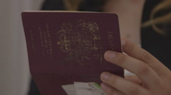Passport Inspection Border Control immigration Stock Footage
