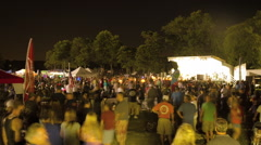 Unidentified people watch fireworks at Freedom Fest Stock Footage