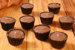Peanut butter cups - stock photo