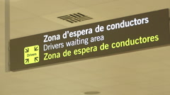 Spanish Airport Sign Stock Footage