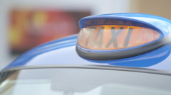British Taxi Light On Off Stock Footage