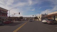 Viewpoint Motorcycle Rider On Beale Street- Kingman AZ Stock Footage