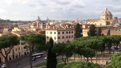 Road traffic at the Piazza d'Aracoeli (timelapse). Rome Stock Footage
