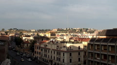 Types of Rome. Residential neighborhoods near the Vatican Stock Footage