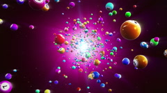 Lottery balls loopable background, purple - stock footage