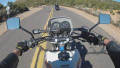 POV Riding Motorcycles In Mountains Near Kingman Arizona Stock Footage